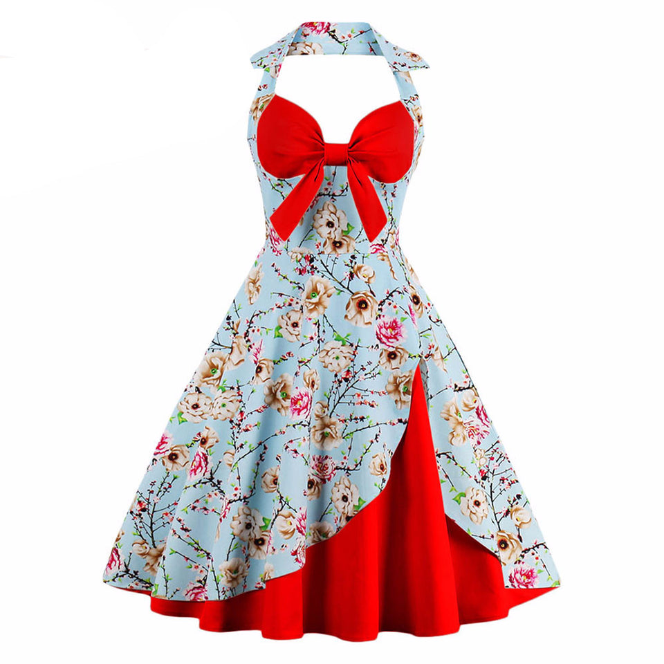 Little Red Riding Hood Floral Print Dress