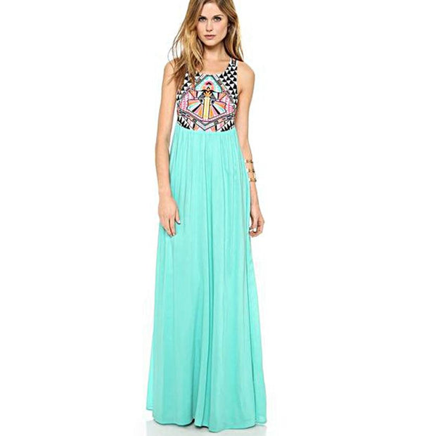 Pop Aztec Maxi Dress