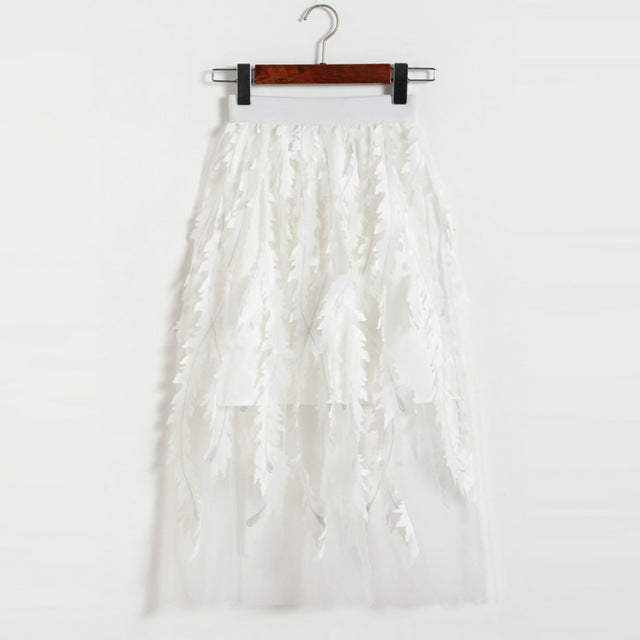 Light As A Feather Midi Skirt