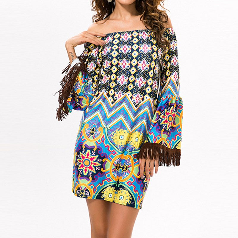Multi-Color Gypsy Mini Dress