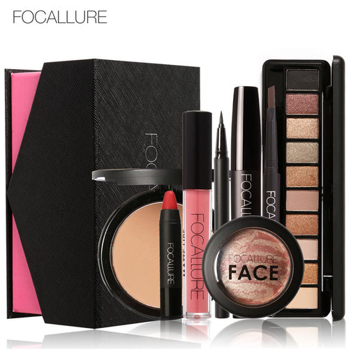 8 PCE Cosmetic Makeup Set Powder Eye Tool Kit - Beautyscarlett Beauty Warehouse