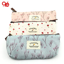 Floral Pencil Canvas Case Cosmetic Makeup Tool BagMakeUp Bag - Beautyscarlett Beauty Warehouse