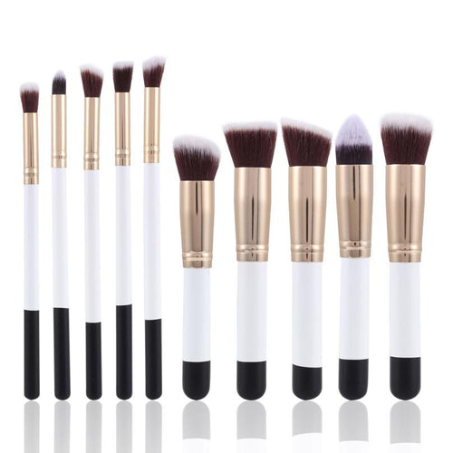 10pce Make Up Brush SetMakeup Brushes - Beautyscarlett Beauty Warehouse
