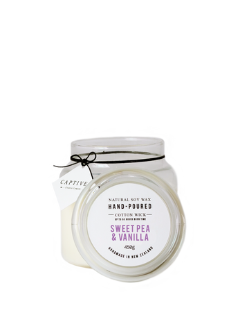 Sweet Pea & Vanilla Cotton Wick