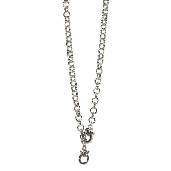 Double Clasp Chain Interchangeable Charm Necklace
