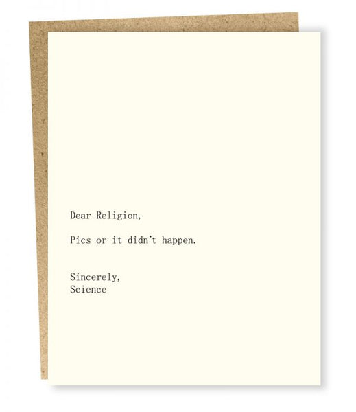 Card - Religion/Science
