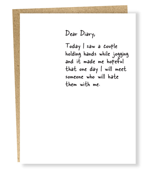 Dear Diary Card - Jogging