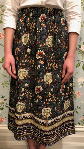Margaux Skirt - Green Floral