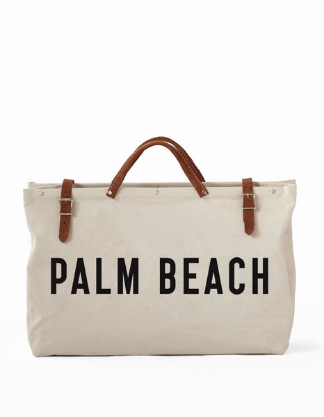 Canvas Utility Bag - Palm Beach