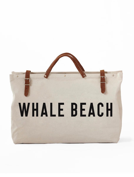 Canvas Utility Bag - WHALE BEACH
