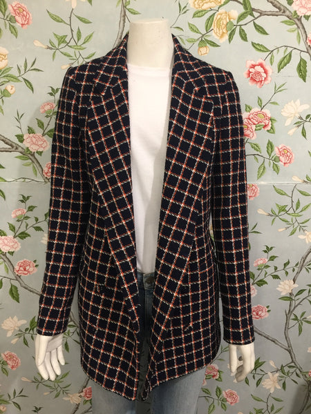 Carole Long-Line Check Blazer