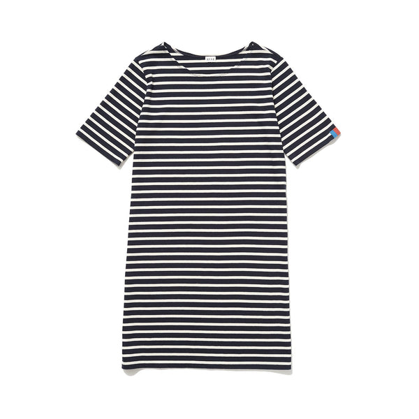 The Tee Dress - Navy/cream