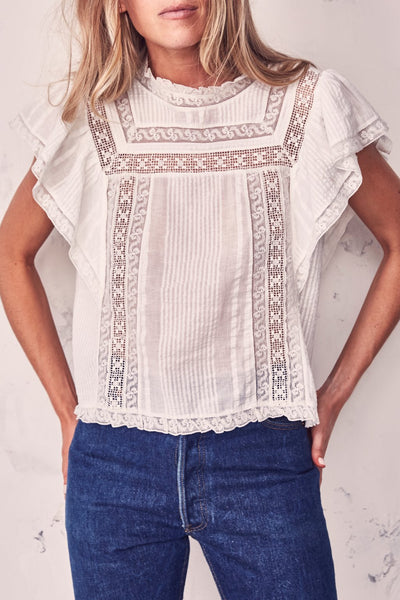 Sahara Top - antique white