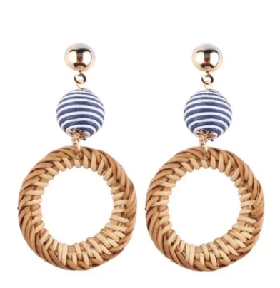 Bali Striped Rattan Drops