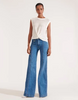 EMBER WIDE-LEG JEAN with Seam Detail