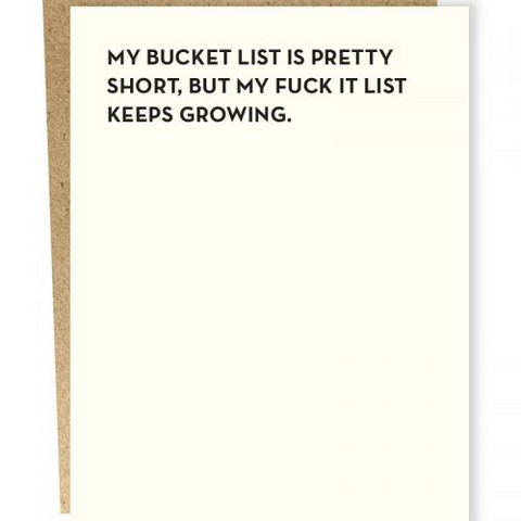 Moment of Truth - Bucket List