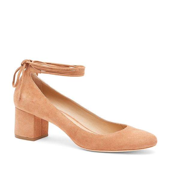Clara - Deep Blush - Ankle Tie Pump