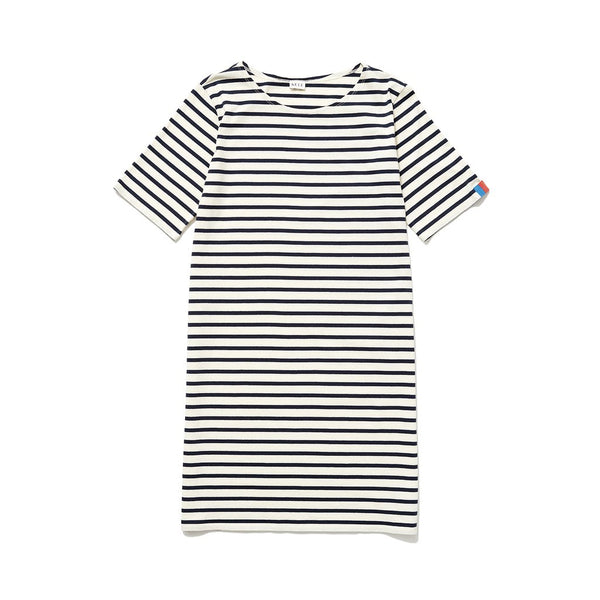 The Tee Dress - Cream/navy