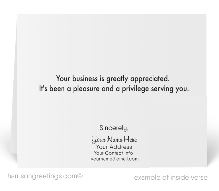 Retro Client Thank You Cards for Business