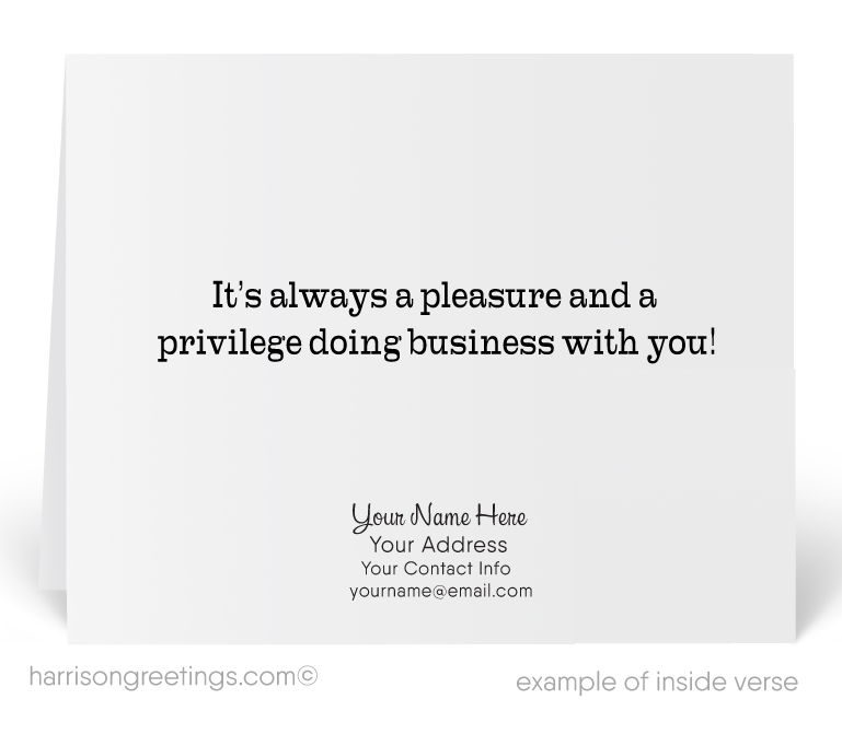 Modern Retro Business Thank You Cards