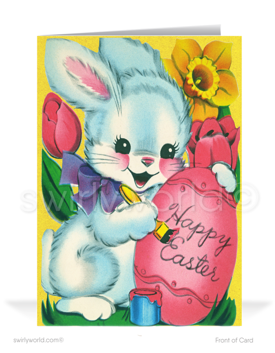1950's Vintage Mid-Century Modern Retro Happy Easter Greeting Cards