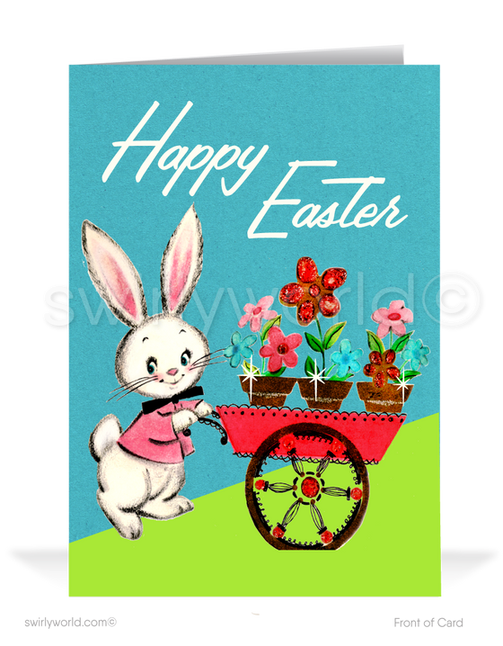 1950's Vintage Mid-Century Modern Happy Easter Greeting Cards