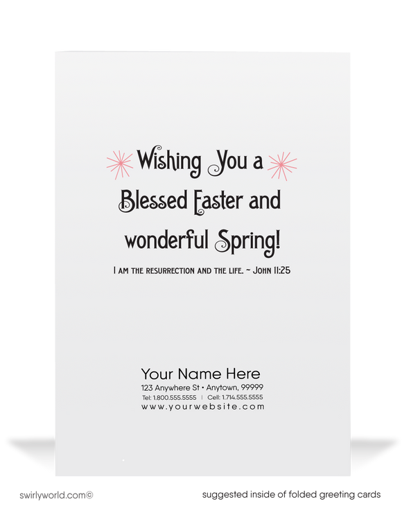 1920's Vintage Christian Happy Easter Greeting Cards