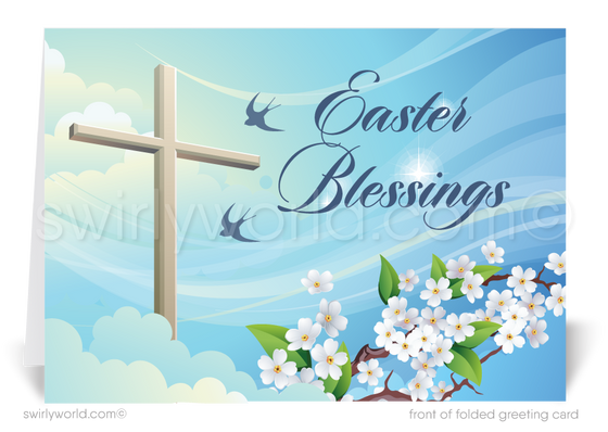 Beautiful Christian religious happy Easter greeting cards.