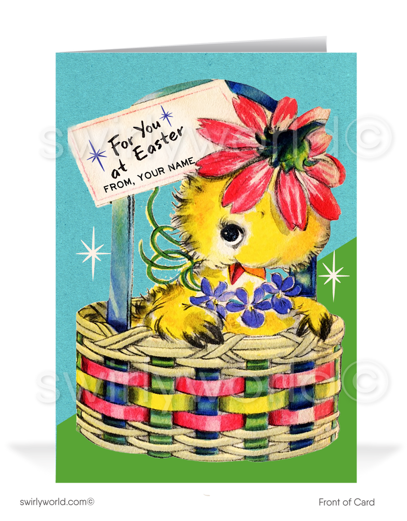 1950's vintage retro happy Easter greeting cards.
