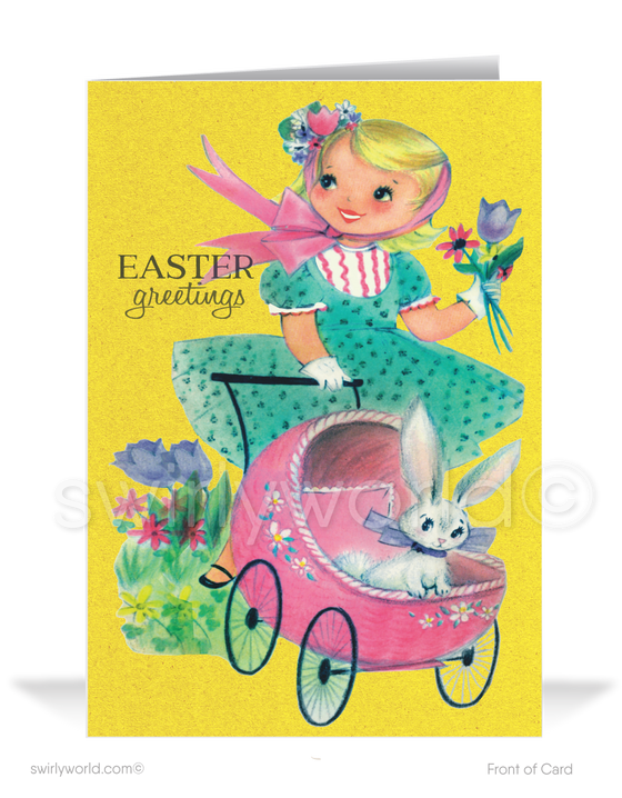 1950s retro style vintage happy Easter greeting cards