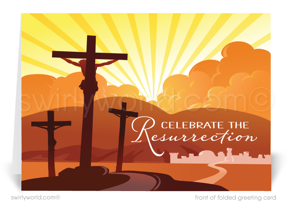 Modern Christian Religious Happy Easter Greeting Cards
