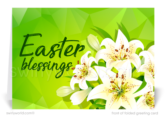 Easter Lilies Christian Easter Greeting Cards