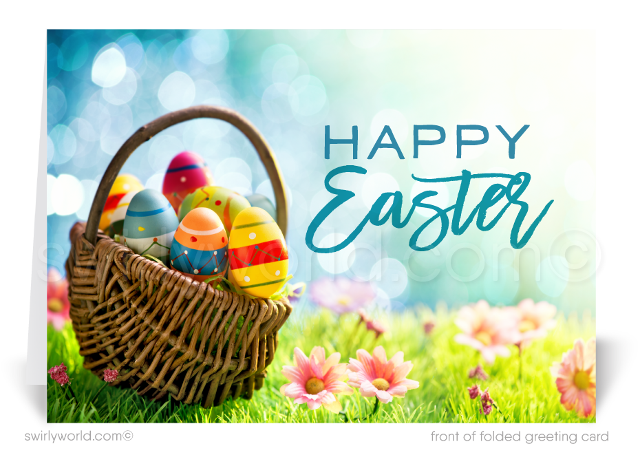 Beautiful Spring Corporate Business Easter Greeting Cards