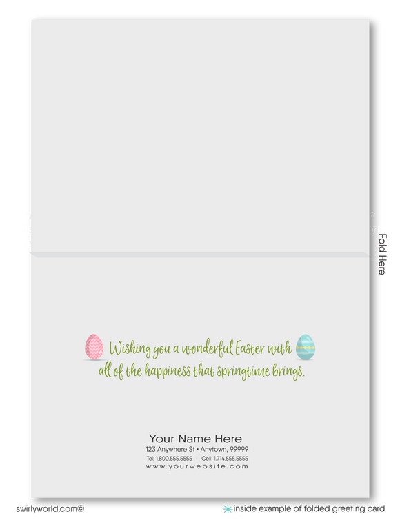 Cute Realtor Happy Spring Easter Greeting Cards for Clients