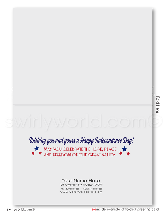 Vintage Americana Stars Happy 4th of July Greeting Cards