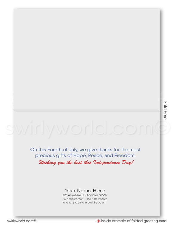 American Eagle Happy 4th of July Cards for Business