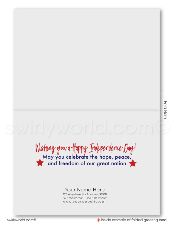 American Flag Patriotic Happy 4th of July Greeting Cards