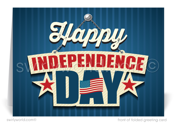 Happy Independence Day 4th of July Cards for Business
