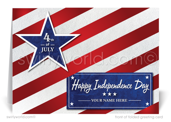 Americana Patriotic Business 4th of July Greeting Cards