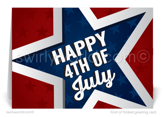 Patriotic Happy 4th of July Cards for Business