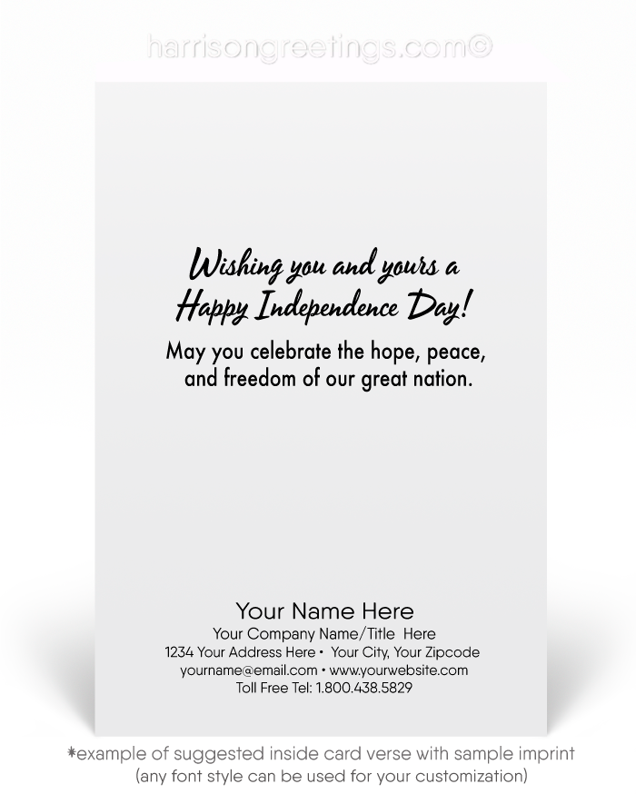 Patriotic Happy 4th of July Cards