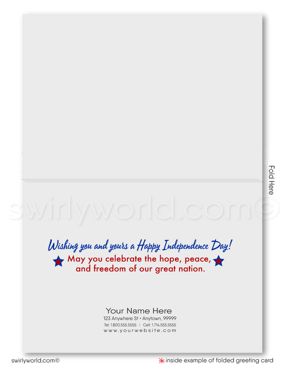 Patriotic Happy Independence Day Fourth of July Greeting Cards