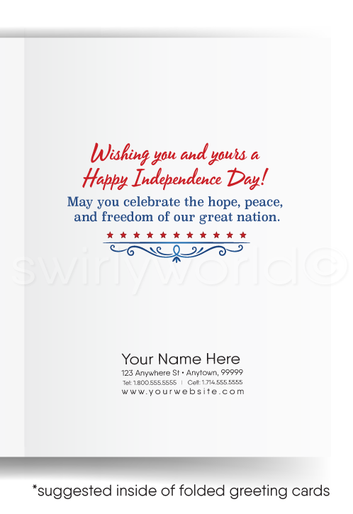 Happy July 4th Cards for Customers