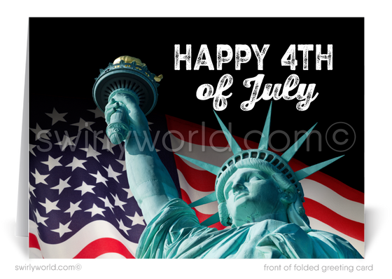 Statue of Liberty Happy Independence Day Cards for Business