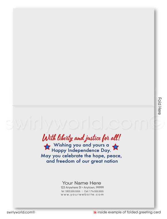 Statue of Liberty Corporate Happy 4th of July Cards