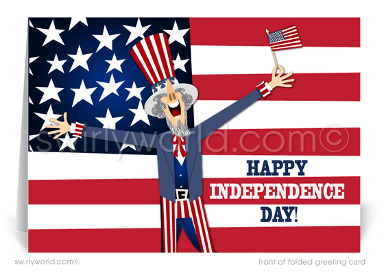 Funny Patriotic Happy 4th of July Cards for Business