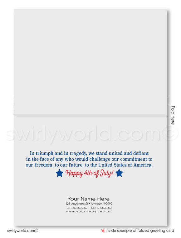 Business Patriotic Fourth of July Cards for Customers