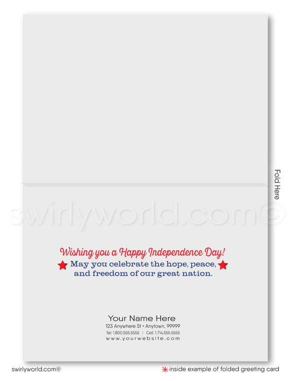 Patriotic Fourth of July Greeting Cards for Business