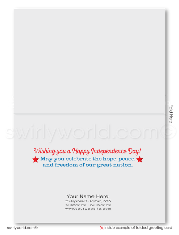 Vintage Patriotic Fourth of July Cards for Business