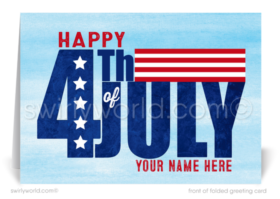 Business Customer Patriotic Fourth of July Greeting Cards
